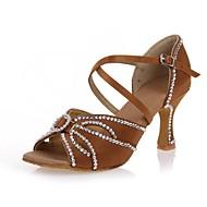 Sapatos de Dança ( Preto / Azul / Castanho / Vermelho ) - Mulheres - Não Personalizável - Latim