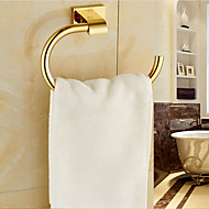 Gold Bathroom Accessories Brass Material Towel Rings