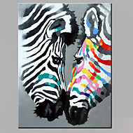 Single Modern Abstract Pure Hand Draw Ready To Hang Decorative Oil Painting Couples The Zebra