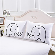 Decorative Pillow Case a Pair of Elephants Body Pillowcase Best Valentine's Day Gifts Home a Pair 50cmx75cm