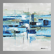 Blue Abstract Canvas Print Form Ready to Hang
