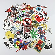 50 Pcs/ Pack Random Stickers Car Styling Funny Car Sticker Doodle Motorcycle Bike Travel Doodle