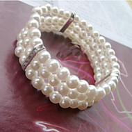 Women's Cuff / Strand Bracelet Silver / Imitation Pearl Imitation Pearl / Rhinestone
