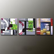 Peint à la main AbstraitModern Trois Panneaux Toile Peinture à l'huile Hang-peint For Décoration d'intérieur