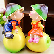 Ou Kiss Pear Resin Furnishing Articles the Doll The Bedroom Decorate Gifts(2Pcs Set)