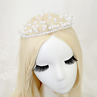 Women's / Flower Girl's Crystal / Alloy / Imitation Pearl Headpiece - Wedding / Special Occasion Tiaras 1 Piece