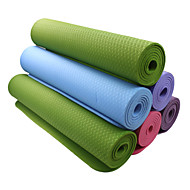 TPE Yoga Mats 183*61*0.6 Non Toxic (1/4 inch) 6 Blue / Green / Orange / Dark Purple #
