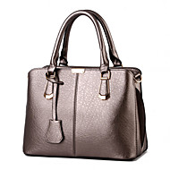 Women's Fashion Casual Solid PU Leather Messenger Shoulder Bag/Totes