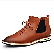 Men's Shoes Wedding / Outdoor / Office & Career / Party & Evening / Athletic / Casual Leather Boots Black / Blue / Brown