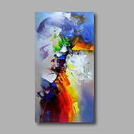 "Ready to hang Stretched Hand-Painted Oil Painting Canvas  40""x20"" Wall Art Abstract Warm Green Blue Red"