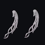 드롭 귀고리 여성용 브라스 귀걸이 모조 큐빅