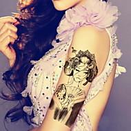 europe starověké tradice krása vodotěsný květina paže dočasná tetování samolepky netoxický třpytky