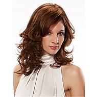 Fuel mix farge lang lengde høy kvalitet naturlig krøllete hår syntetisk parykk