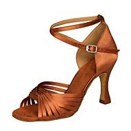 Sapatos de Dança ( Preto / Marrom / Prateado / Dourado / Fúcsia / Outro ) - Feminino - Não Personalizável -Latina / Salsa / Samba /