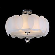 3 Light Glass Chandelier/ Modern Pendant Light/ Dinning Room, Living Room, Family Room, Bedroom