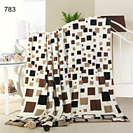 Super Soft Blankets Fleece Blankets Wholesale Printed Plaid Blanket High Quality mantas e cobertores sofa
