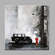 Single  Classic Pure Hand Draw Ready To Hang Decorative Painting Street View Oil Painting