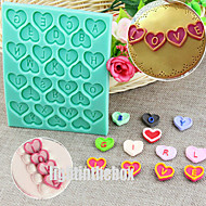 28 in 1 26 English Letter Valentine Heart Shape DIY Silicone Chocolate Pudding Sugar Cake Mold