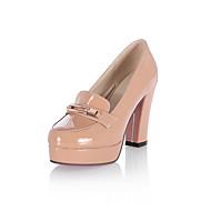 נעלי נשים - בלרינה\עקבים - עור פטנט - עקבים / מעוגל / סגור - שחור / ורוד / סגול / לבן / Almond - משרד ועבודה / שמלה / קז'ואל / מסיבה וערב