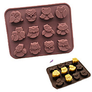 12-Owl Silicone Cake Decorating Mould Candy Cookies Chocolate Soap Baking Mold
