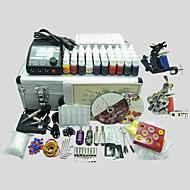 basekey tattoo kit 226 2 maskiner med strømforsyning greb kopper nåle (blæk medfølger ikke)