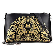 Women PU Casual / Outdoor Shoulder Bag Gold / Silver / Black