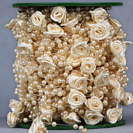 Ruban en organza / Noeud ( Blanc / Rose / Ivoire , Strass ) - Non personnalisé