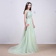 Evening dress - Light green beading on lace hollow translucent ball gown bridalwedding dress