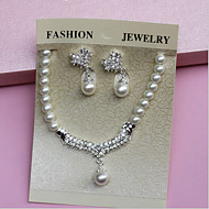 Women's Imitation Pearl / Alloy Jewelry Set Imitation Pearl / Rhinestone