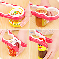 4 in 1Multi-function Combination Can Opener Open Cans household Implement Anti-skid Screw Cap Tin Opener Random Color