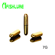 Afishlure Vase Type Pure Copper Bullets 1.8g Fishing Weights Fishing Accessaries Copper Pendant 12pcs/lot