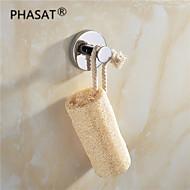 """PHASAT®,Crochet à Peignoir Chrome Fixation Murale 45*58*58mm(1.8*2.3*2.3"""") Laiton Contemporain"""