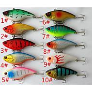 Anmuka  10Color Fishing Sinking VIB Lure Vibration Rattle Hook Crankbait Baits 18g  7.5cm  Free Shipping