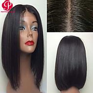en stock 12inch bob recta color natural del cordón del pelo virginal brasileño peluca del frente