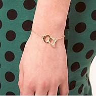 Gold-Silber-Handschellen Armband (gelegentliche Farbe)
