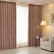 Two Panels Modern Solid Blue Green Coffee Bedroom Linen Cotton Blend Panel Curtains Drapes