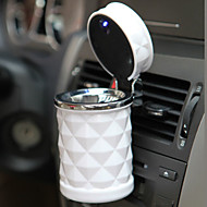 luxusní autopříslušenství přenosný LED auto popelník vysoce kvalitní univerzální držák do auta cigaret válec styl mini