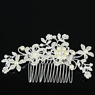 Z&X® Fashion Pearl Luxurious Alloy Hair Combs Wedding / Rhinestone Party / Daily 1pc