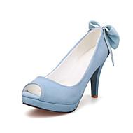Women's Shoes Stiletto Heel Heels / Peep Toe / Platform Sandals Office & Career / Party & Evening / DressBlack / Blue
