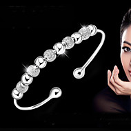 S925 Pure Stering Silver Ball Beads Bangle Bracelet Jewelry Christmas Gifts