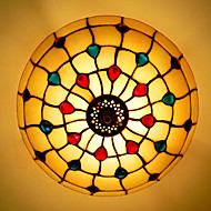 30*19CM Europe Type Style Tiffany, Wrought Iron Pnd Tail-On Half Dome Light Colored Glass Sitting Room LED Lamp