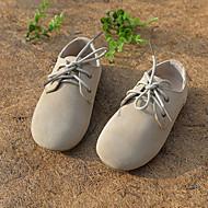 Sneakers-Læder-Komfort-Drenge Piger-Sort Brun Grøn Hvid Grå Mandel-Bryllup Udendørs Fritid Sport Fest/aften