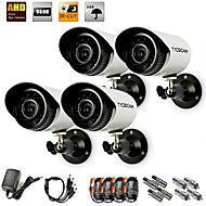 TYCOCAM AHD All-in-one Camera Kit 4pcs/Pack 130Megapixels AHD Waterproof Outdoor and Indoor Camera with 15M IR Distance