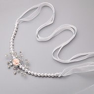 Women's / Flower Girl's Rhinestone / Imitation Pearl / Chiffon Headpiece - Wedding / Special Occasion Headbands 1 Piece