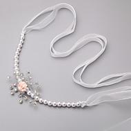 結婚式 / パーティー 成人用 / フラワーガール ラインストーン / 人造真珠 / シフォン かぶと ヘッドバンド 1個