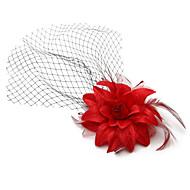 Women's Fabric Headpiece - Wedding / Outdoor Fascinators / Birdcage Veils 1 Piece