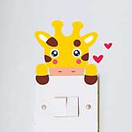 Wall Stickers Wall Decals Style Cartoon Cattle Switch Waterproof Removable PVC Wall Stickers