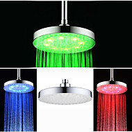 8 Inch  Chrome Colorful  LED  Shower Head Rain Shower