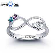 Noble Personalized Infinite Love Promise Ring Couple Stone 925 Sterling Silver Cubic Zirconia Ring For Women