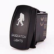 iztoss 5pin lézeres sasquatch billenkapcsolót on-off led 20a 12v kék